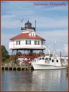 September 16, 2011.  Drum Point Lighthouse, Solomons Island, MD. I saw all your wonderful photographs yesterday but couldn't comment because they were working on the site.