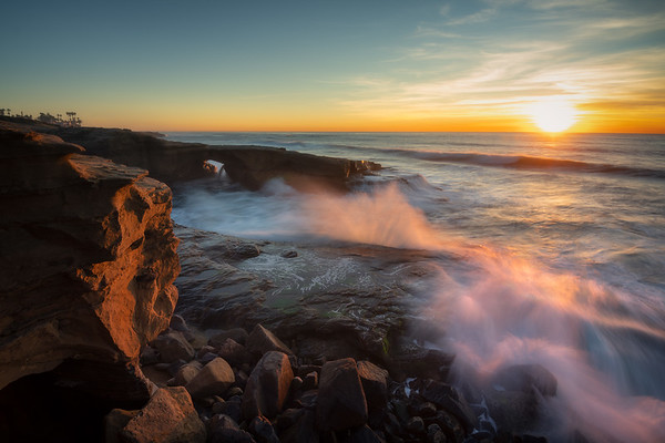 Sun Sprays || Sunset Cliffs