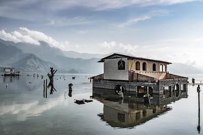 Submerged House in Lake Atitlan, Guatemala