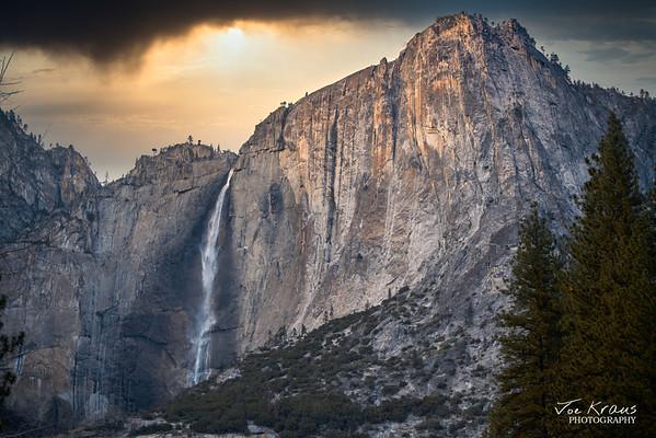 Stormy Sunset Yosemite Falls Hybrid