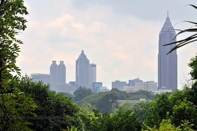 Peachtree Tower (left), Sun Trust Plaza ( center), Bank of America Plaza (right), Atlanta, GA