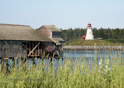 Mulholland Point Lighthouse, New Brunswick, Canada from Lubec, ME
