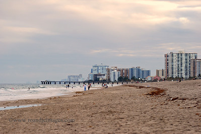 Pompano Beach and Pier, Florida