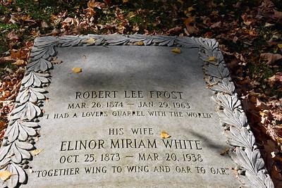 Poet Robert Frost Grave
