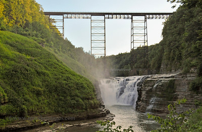 Middle Falls, Railroad Bridge, Letchworth Park