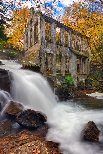Thomas Carbide Willson  Ruins and Waterfall
