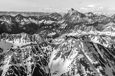 Flying over the Elk Range, CO
