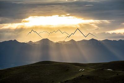 Sunset over the Sangre de Cristo Range, CO