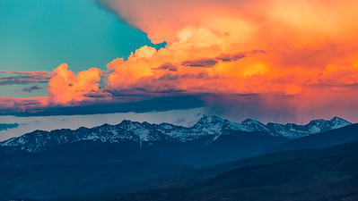 Sunset above the Northern Sawatch Range, CO