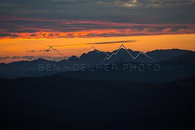 Sawatch Range, CO, at sunrise