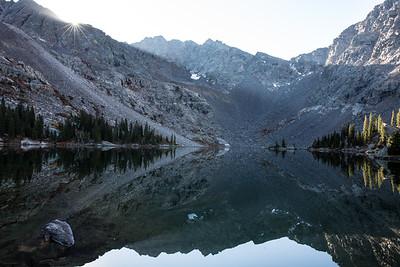 Reflection on Mystic Island Lake, CO