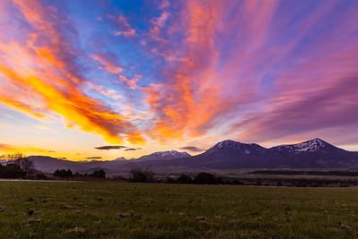 Sunrise outside Hotchkiss, CO