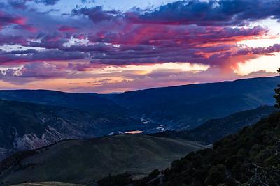 Sunset above Gypsum, CO