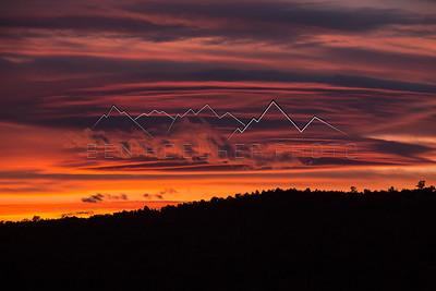 Sunset on Copper Spur Rd, Bond, CO