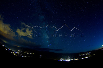 Long exposure photo from Red and White Mountain, CO