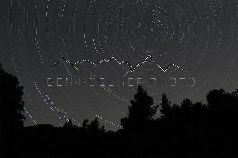 Several Hour Long Exposure near Mount Shavano, CO