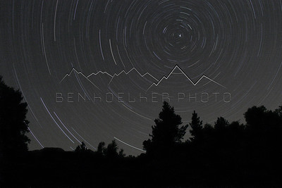 Several Hour Long Exposure near Mount Shavano, CO