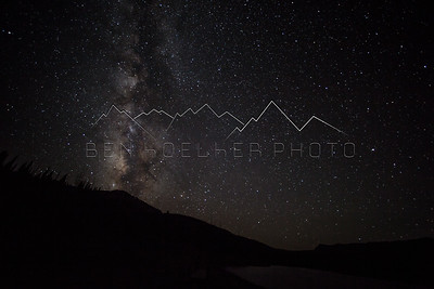 The Milky Way as seen in the Flat Tops Range, CO
