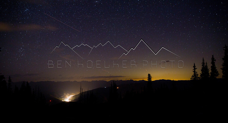 Long exposure of Vail, CO