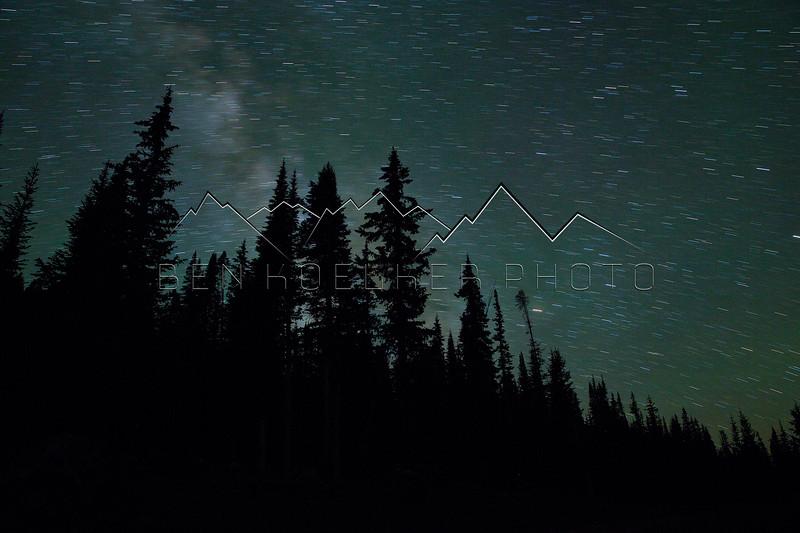Stars near Hidden Treasure Yurts, CO