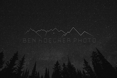 Black and White shot of the stars outside of Eagle, CO