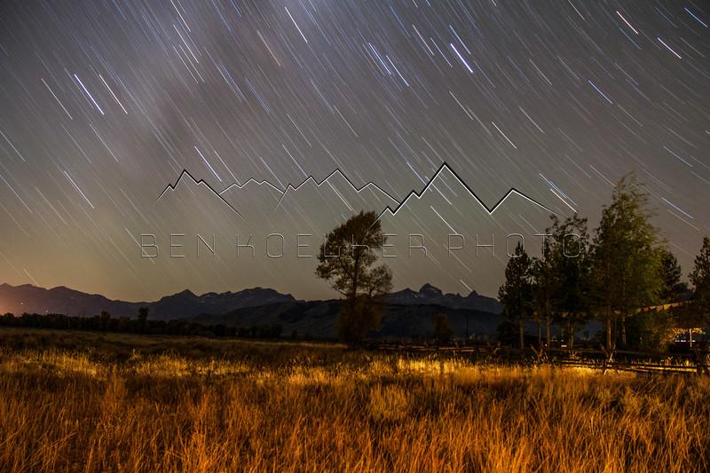 Teton Range, WY at night
