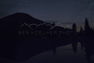 Long exposure photo of reflection in the tarn on Paradise Divide, CO