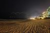 Cancun, Mexico Beach at Night