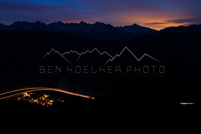 East Vail, CO just after Sunset