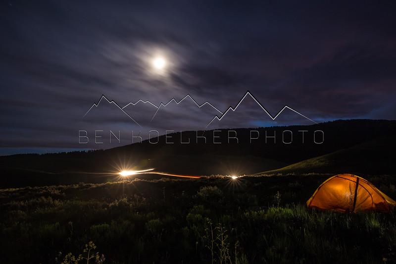 Long Exposure at camp near Woods Lake, CO