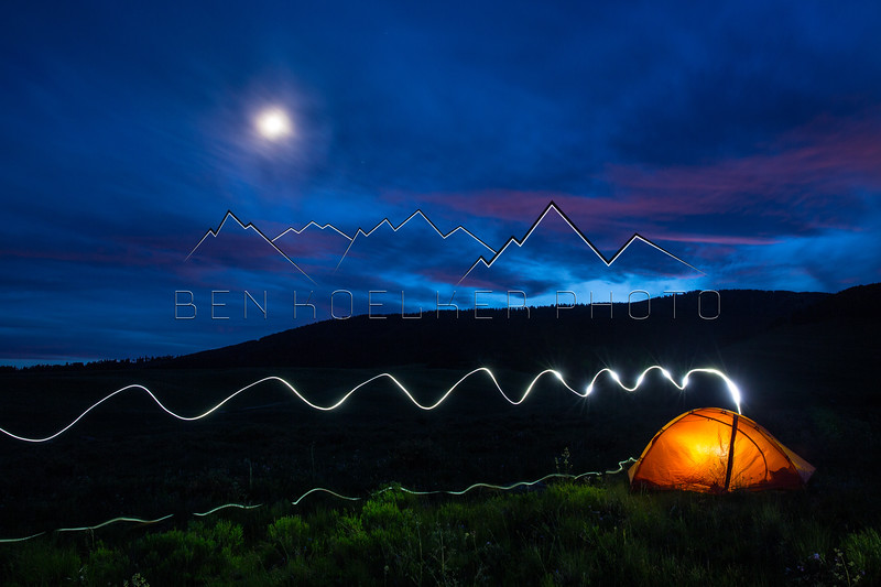 Long Exposure at camp near Woods Lake, CO