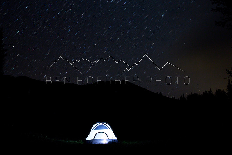 Long exposure photo on Paradise DIvide, CO
