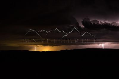 Lightning in eastern Utah
