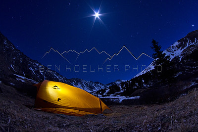 Camp at Night near Mount Kelso, CO