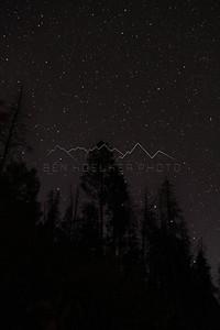 Night Sky above Cordillera, CO