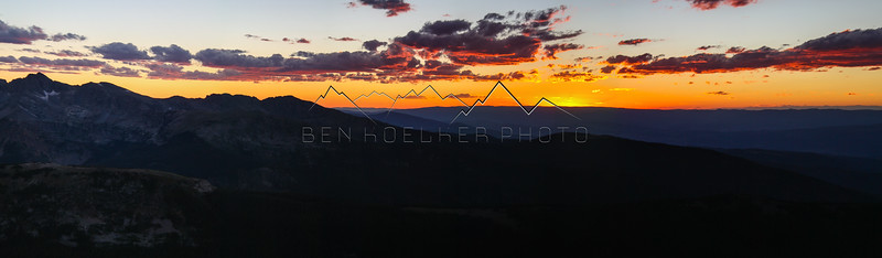 Sunset in the Sawatch Range, CO