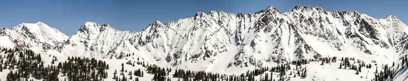 Panorama of the Gore Range, CO