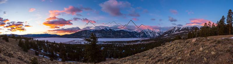 Sunrise above Twin Lakes, CO