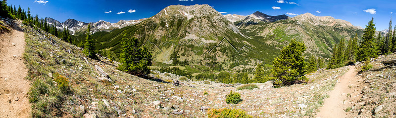 Panorama from the Huon Peak Trail, CO