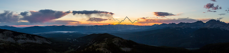 Sunset Pano from Cottonwood Pass, CO