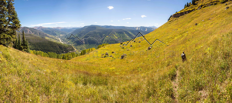 Panorama from the Gore Range, high above Vail, CO