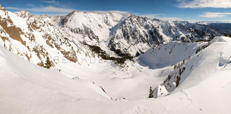 Winter in the Gore Range, CO