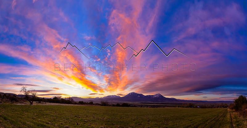 Sunrise near Hotchkiss, CO