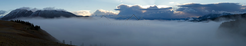 Cloud Inversion in the Gore Range, CO