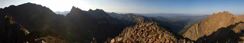 Panorama from the summit of East Corner Peak, Gore Range, CO