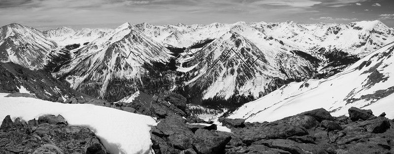 View from Mt Massive, CO