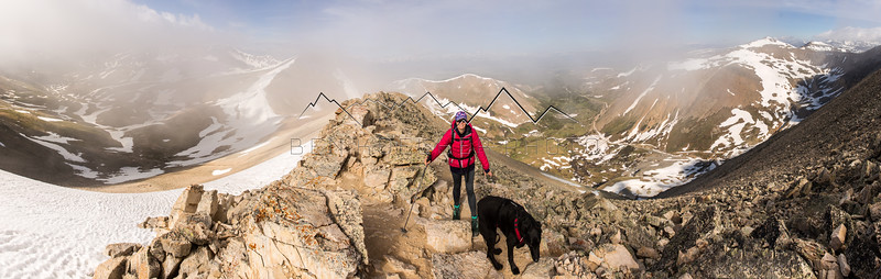 Christine Koelker and Moose from 14,036' Mt. Sherman, CO