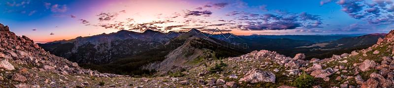 Sunrise in the Northern Sawatch Range, CO