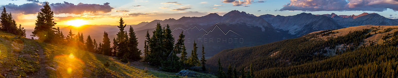 Sunset from Cottonwood Pass, CO
