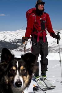 Max and Joel on the way up 14er Mt. Bierstadt